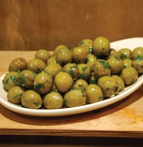 Marinated Cracked Green Olives 200g