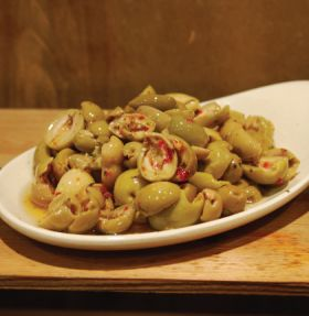 Spicy Split Green Olives 200g