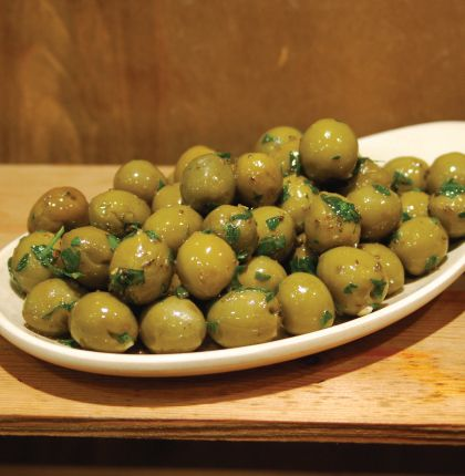 Marinated Cracked Green Olives 200g