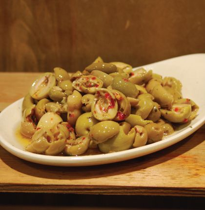 Spicy Split Green Olives 200g