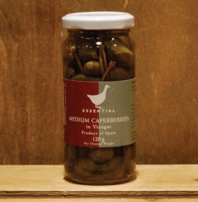 Essential Medium Caperberries 120g