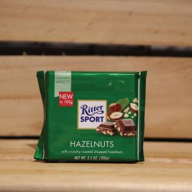 RITTER SPORT HAZELNUTS CHOCOLATE 100G