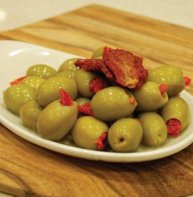 Semi Sun Dried Tomato Stuffed Olives 200g